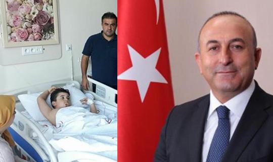 Alper'in tedavisini Çavuşoğlu üstlendi