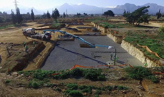 Antalya'daki dev projede ilk beton döküldü