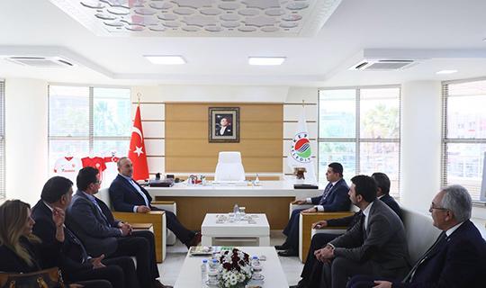 Bakan Çavuşoğlu'ndan Başkan Tütüncü'ye ziyaret