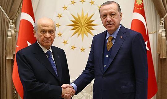 Erdoğan Bahçeli ile görüştü