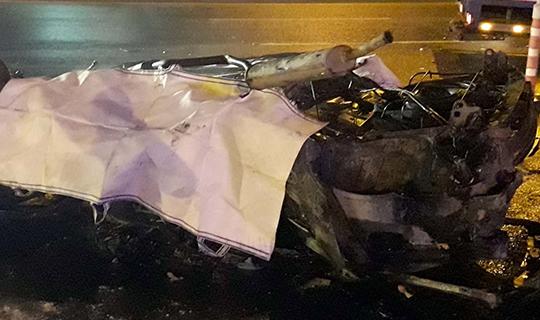 Otomobil takla attı sürücü hayatını kaybetti