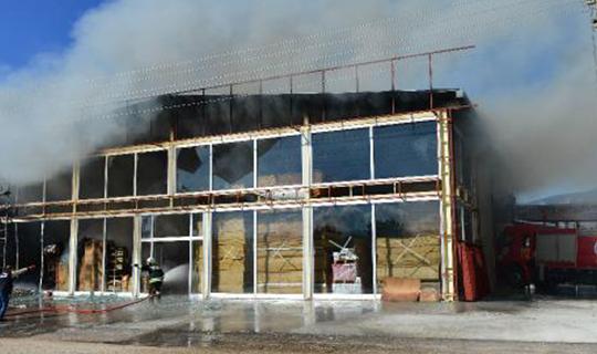 İş yerinde yangın çıktı