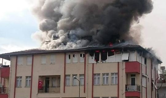 Yangın panik yarattı