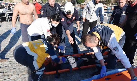Antalya'da  40 metrelik falezlerden atladı