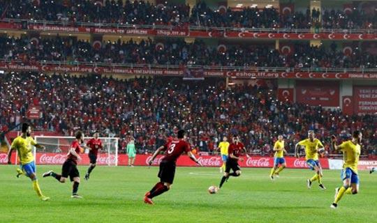 Antalya'da milli heyecan