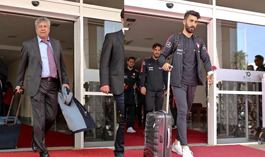 Milli Takım Antalya'ya geldi