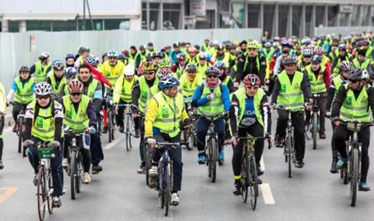 Pedallar 1 Nisan'da Yeşilay için dönüyor