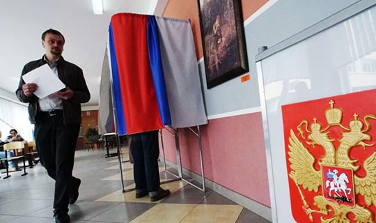 Rusya'da seçim heyecanı yaşandı