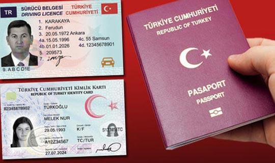 Yeni kimlik, ehliyet ve pasaportlarla ilgili açıklama