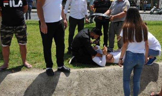 16 yaşındaki genç yaralandı