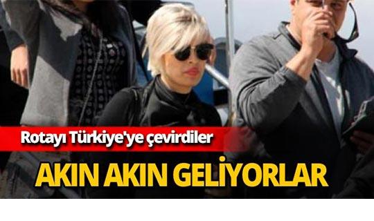 Akın akın Türkiye'ye geliyorlar