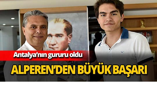 Alperen Akdoğan dünya ikincisi oldu