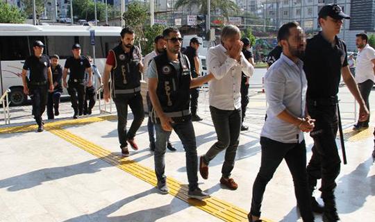 Antalya'da adliyeye sevk edildiler