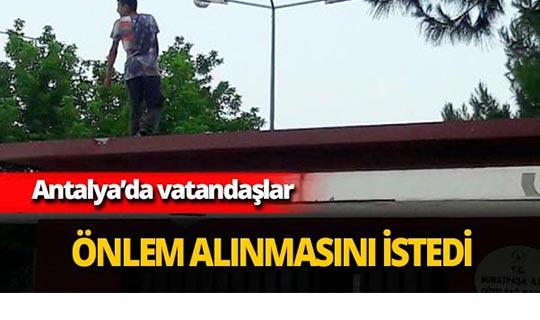 Antalya'da vatandaşlar büyük tepki gösterdi