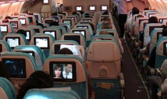 Antalya uçağında hareketli dakikalar