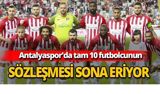 Antalyaspor'da tam 10 futbolcunun sözleşmesi sona eriyor