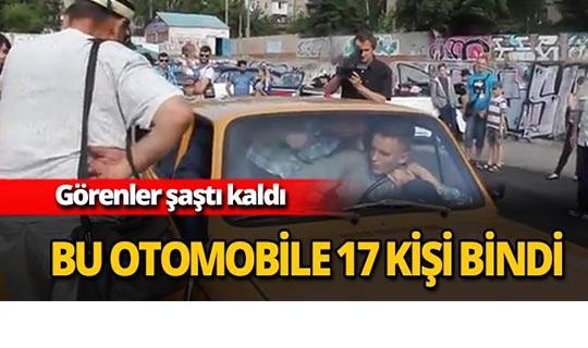 Bu otomobile tam 17 kişi bindi
