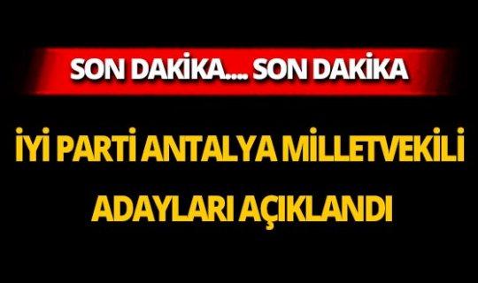 İYİ Parti Antalya milletvekili adayları açıklandı