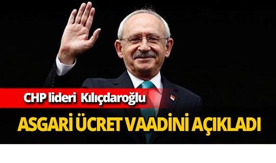 Kılıçdaroğlu asgari ücret vaadini açıkladı