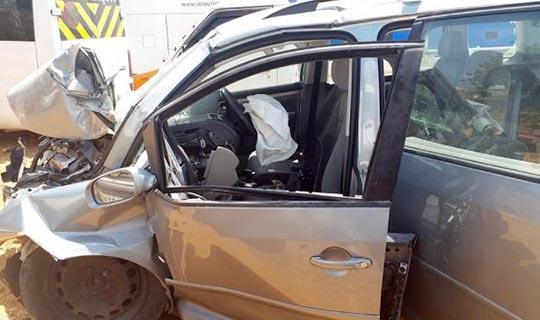 Sürücü ağır yaralandı