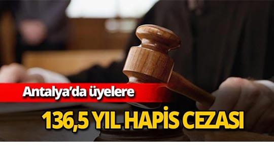 136,5 yıl hapis cezası