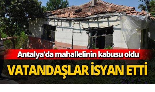 Antalya'da mahallelinin kabusu oldu