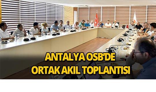 Antalya OSB'de ortak akıl toplantısı