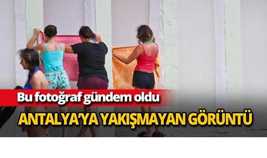 Antalya'ya yakışmayan fotoğraf