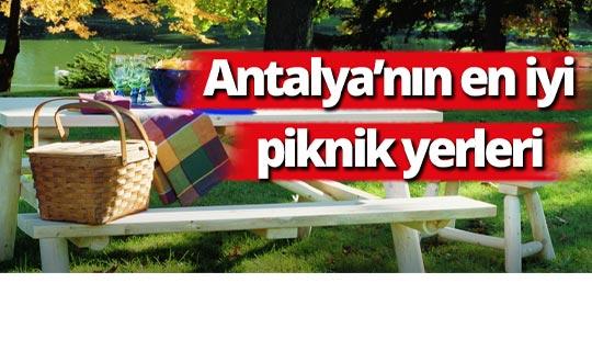 Antalya'nın en iyi piknik yerleri