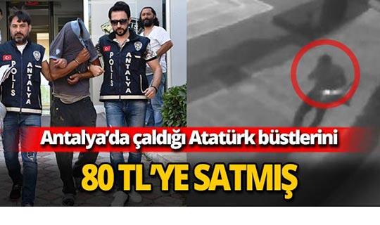 Atatürk büstlerini 80 TL'ye satmış
