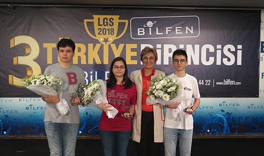 Bilfenli 3 öğrenci Türkiye birincisi