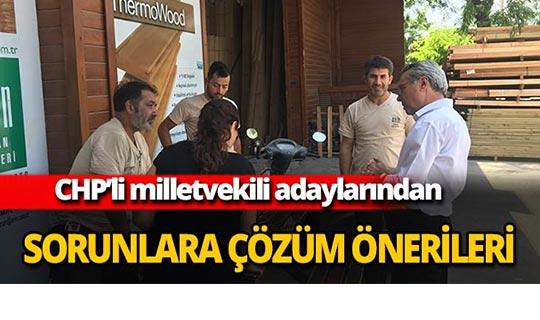 CHP'li milletvekili adaylarından sorunlara çözüm önerileri