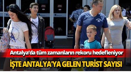 İşte Antalya'ya gelen turist sayısı