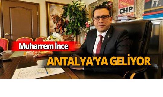 Muharrem İnce Antalya'da miting düzenleyecek