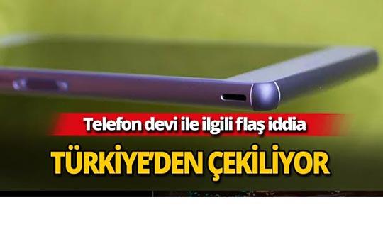 Telefon devi Türkiye'den çekiliyor
