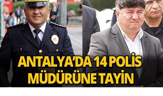 14 polis müdürü tayin edildi