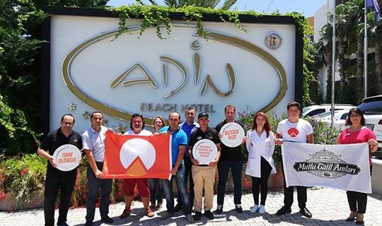 Adin Hotel'e Uluslararası Turuncu Bayrak Sertifikası