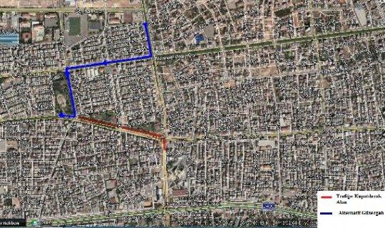 Antalya'da kavşak trafiğe kapatılıyor