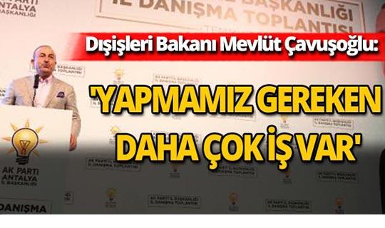 Bakan Çavuşoğlu İl Danışma Toplantısı'na katıldı