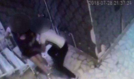 Kadına taciz güvenlik kameralarında