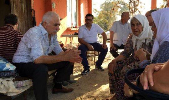 Kumbul yangından etkilenen aileleri ziyaret etti
