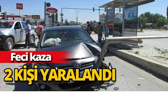 Otomobiller çarpıştı 2 kişi yaralandı