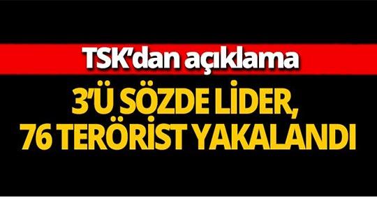 TSK: 1 haftada 76 terörist, etkisiz hale getirildi