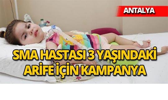 Antalya'da minik Arife için yardım kampanyası başlatıldı