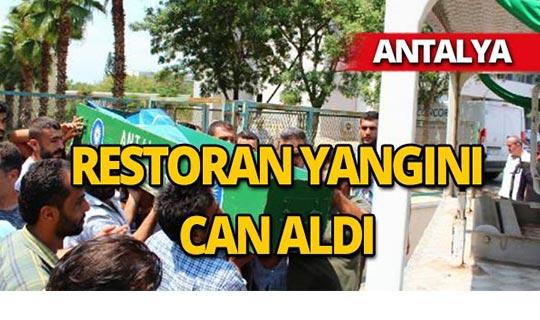 Antalya'daki yangında yaralanan çocuk hayatını kaybetti