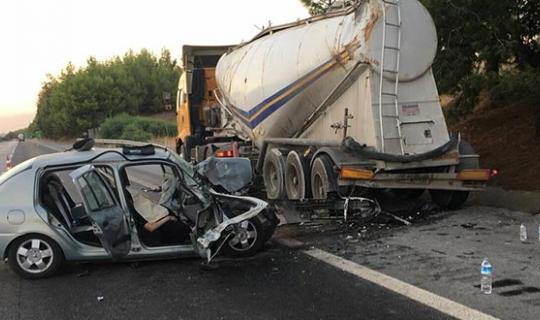 Balayı yolunda korkunç kaza : Gelin hayatını kaybetti