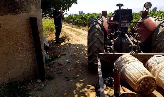 Eşini traktörle öldüren adama gözaltı