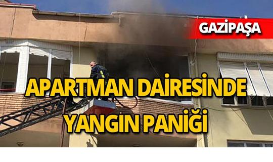 Gazipaşa'da apartman dairesinde yangın
