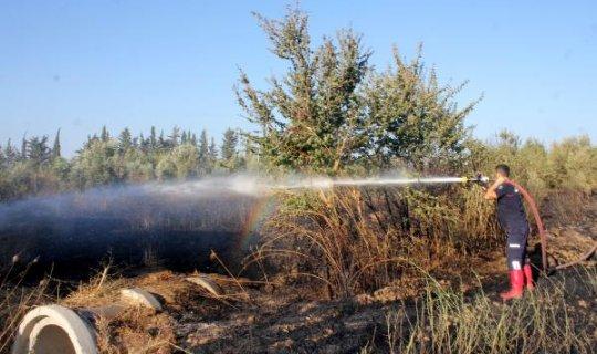 Gazipaşa'daki anız yangını paniğe neden oldu