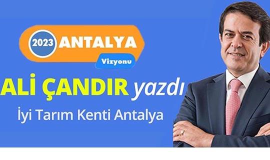 İyi tarım kenti Antalya